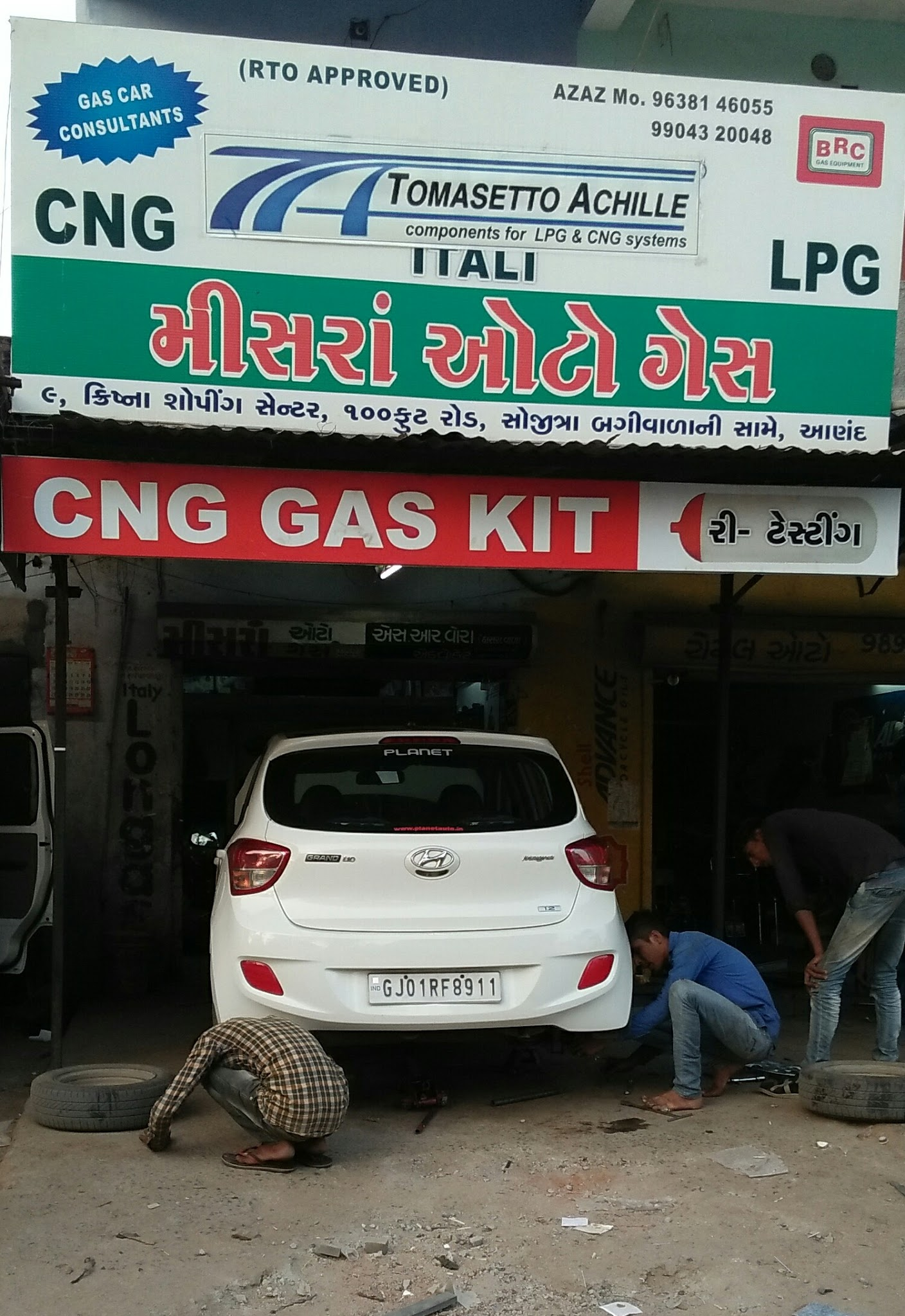 We provide already fitted tomasetto lovato brc and other indian italian cng kit brands repair service we also provide cylinder retesting service at the